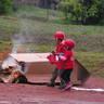 035. A kis tűzoltók rutinosan szálltak szembe a tűzzel